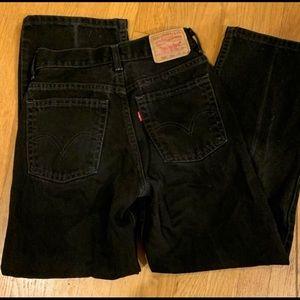 Levi's 505 Vintage Black/Grey Mom Jeans size 27